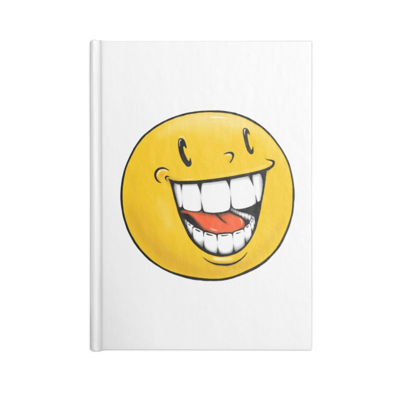 Smiley Emoji Accessories Blank Journal Notebook by Stiky Shop