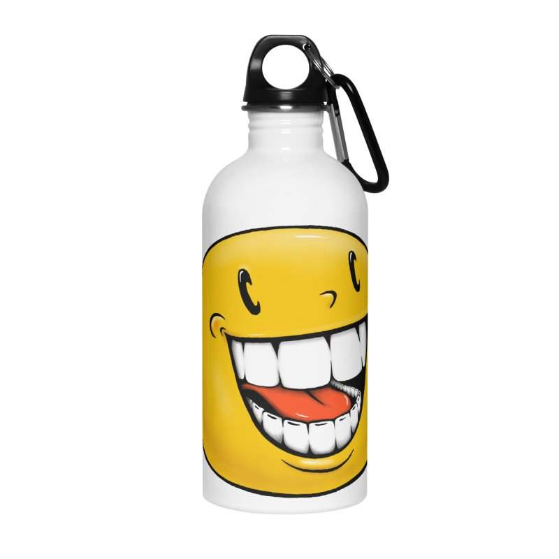 Smiley Emoji Accessories Water Bottle by IDC Art House