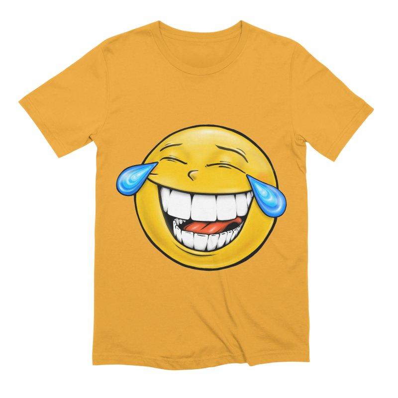 Crying Laughing Emoji Men's Extra Soft T-Shirt by Stiky Shop