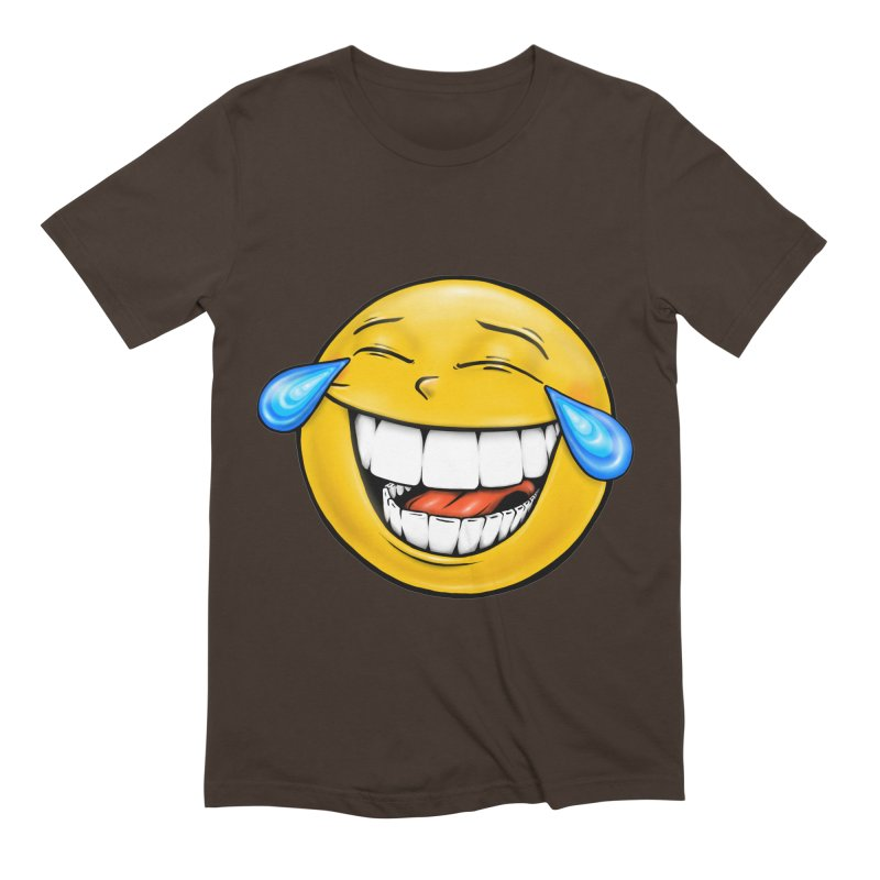 Crying Laughing Emoji Men's Extra Soft T-Shirt by Stiky Shop