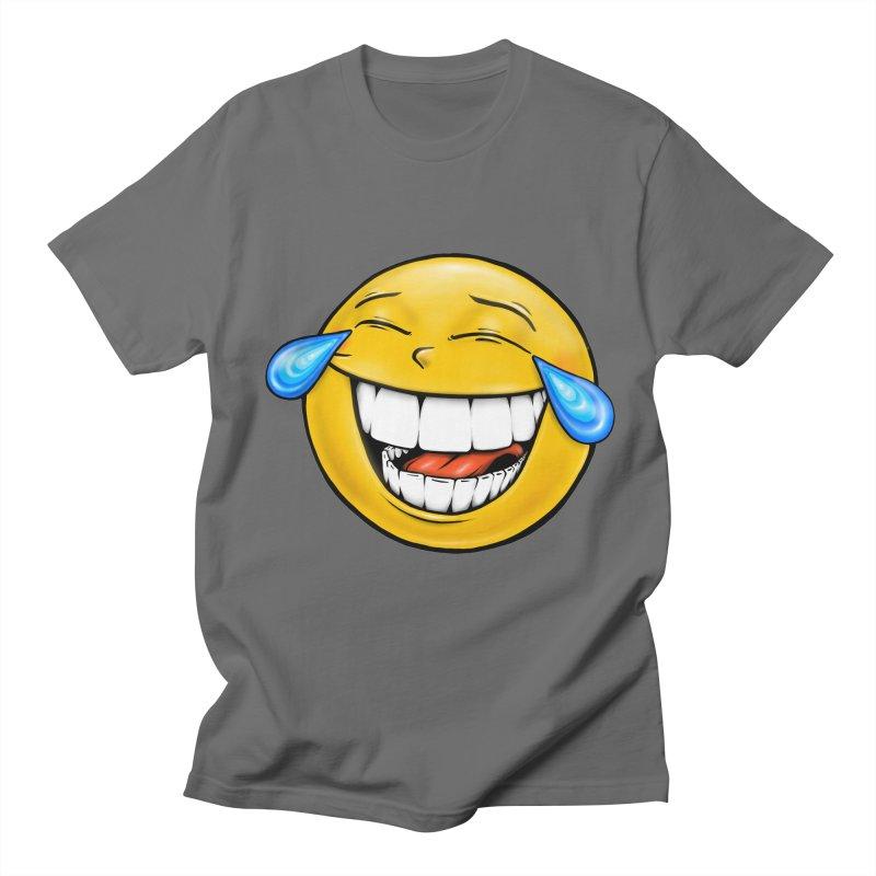 Crying Laughing Emoji Men's T-Shirt by Stiky Shop