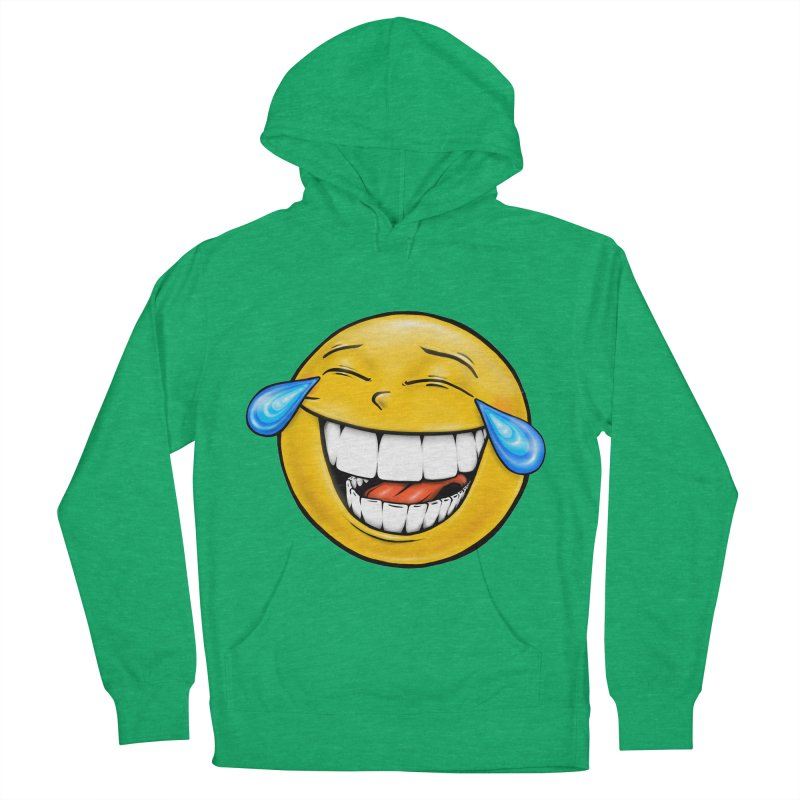 Crying Laughing Emoji Women's French Terry Pullover Hoody by IDC Art House