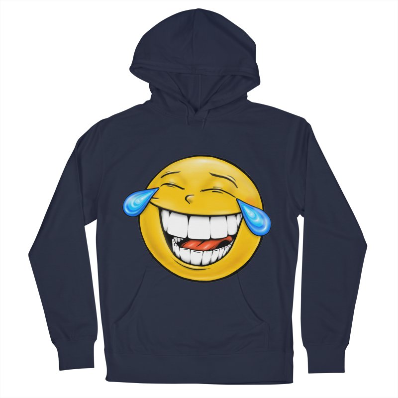 Crying Laughing Emoji Women's French Terry Pullover Hoody by Stiky Shop