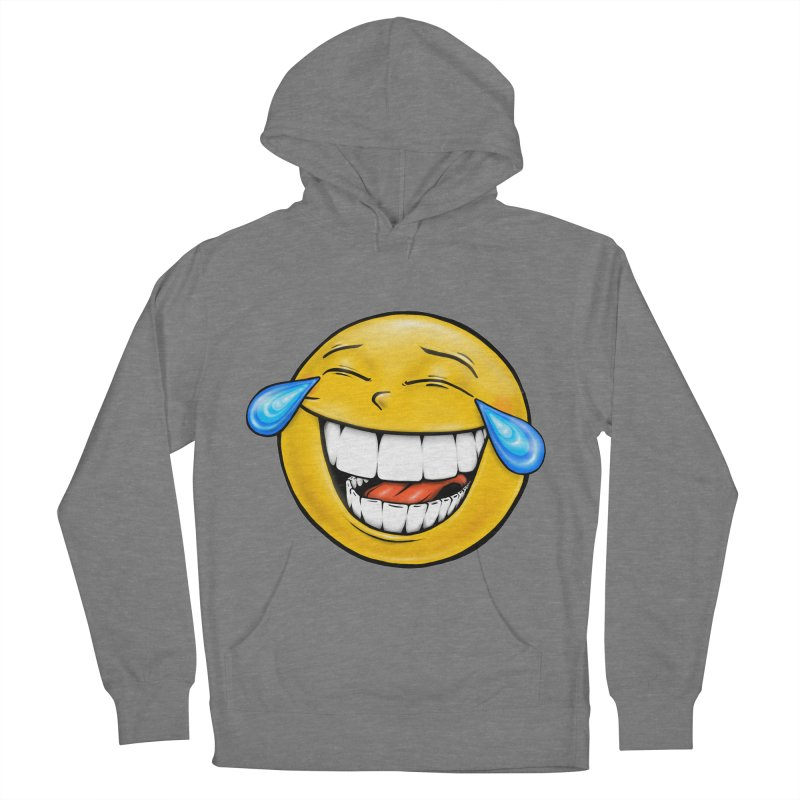 Crying Laughing Emoji Men's French Terry Pullover Hoody by Stiky Shop