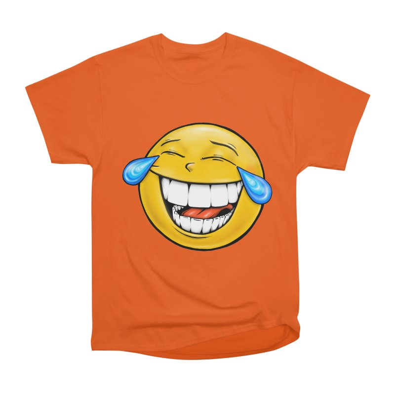 Crying Laughing Emoji Men's Heavyweight T-Shirt by IDC Art House