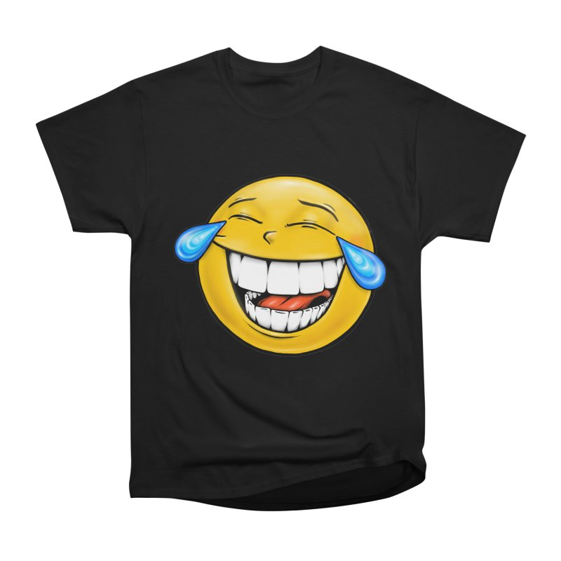 Crying Laughing Emoji Women's Heavyweight Unisex T-Shirt by IDC Art House