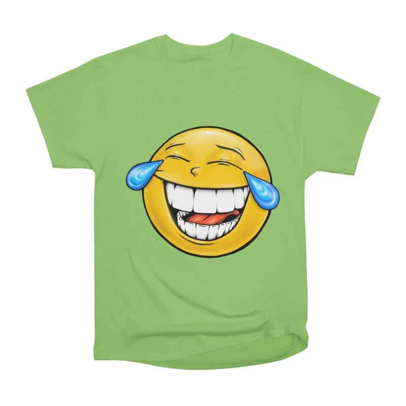 Crying Laughing Emoji Men's Heavyweight T-Shirt by Stiky Shop