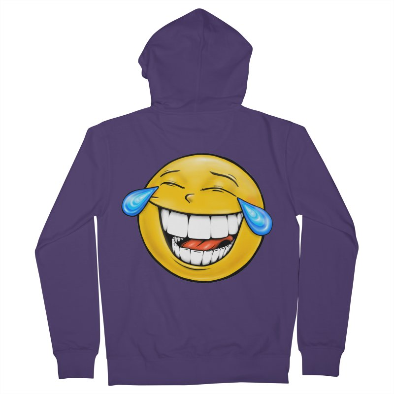 Crying Laughing Emoji Women's French Terry Zip-Up Hoody by Stiky Shop