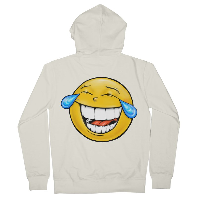 Crying Laughing Emoji Women's French Terry Zip-Up Hoody by IDC Art House