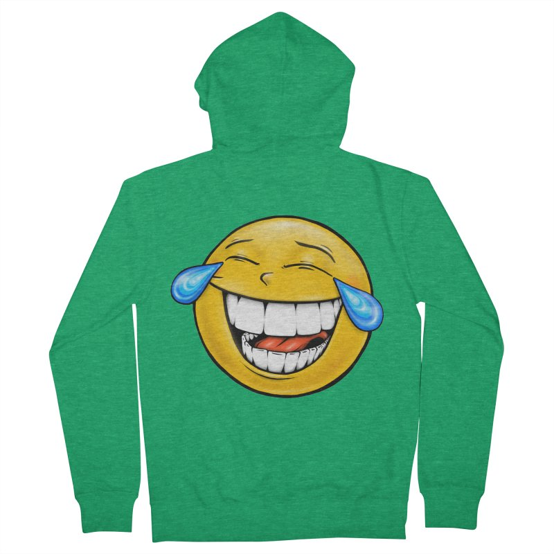 Crying Laughing Emoji Men's French Terry Zip-Up Hoody by Stiky Shop