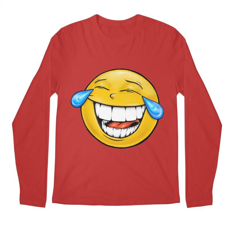 Crying Laughing Emoji Men's Regular Longsleeve T-Shirt by Stiky Shop