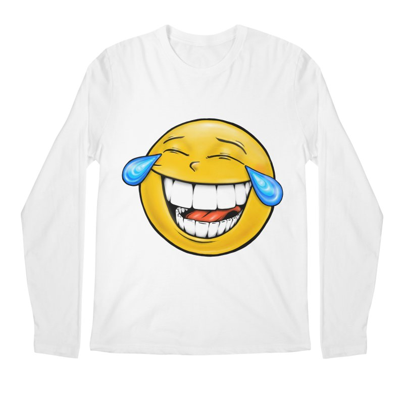 Crying Laughing Emoji Men's Regular Longsleeve T-Shirt by IDC Art House