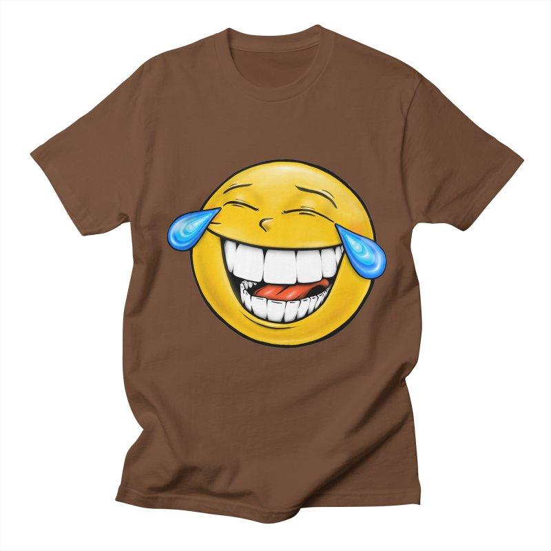 Crying Laughing Emoji Men's Regular T-Shirt by IDC Art House