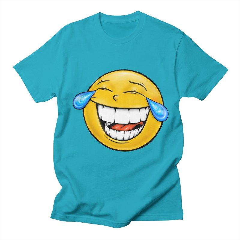 Crying Laughing Emoji Women's Regular Unisex T-Shirt by IDC Art House