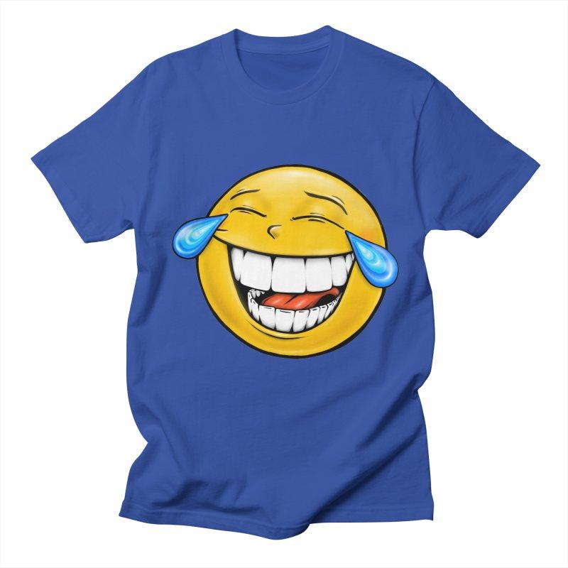 Crying Laughing Emoji Men's Regular T-Shirt by Stiky Shop