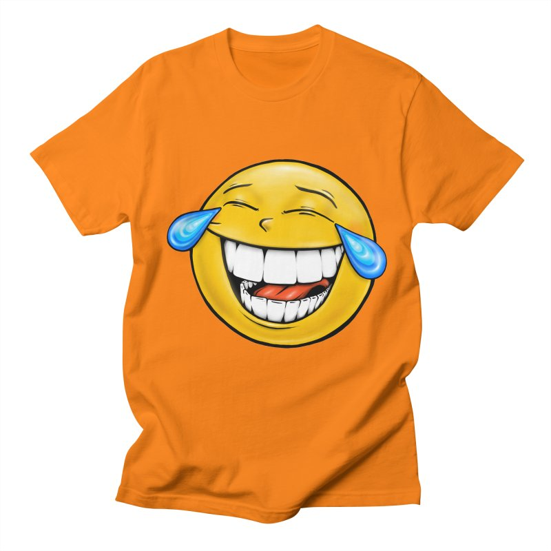 Crying Laughing Emoji Women's Regular Unisex T-Shirt by Stiky Shop