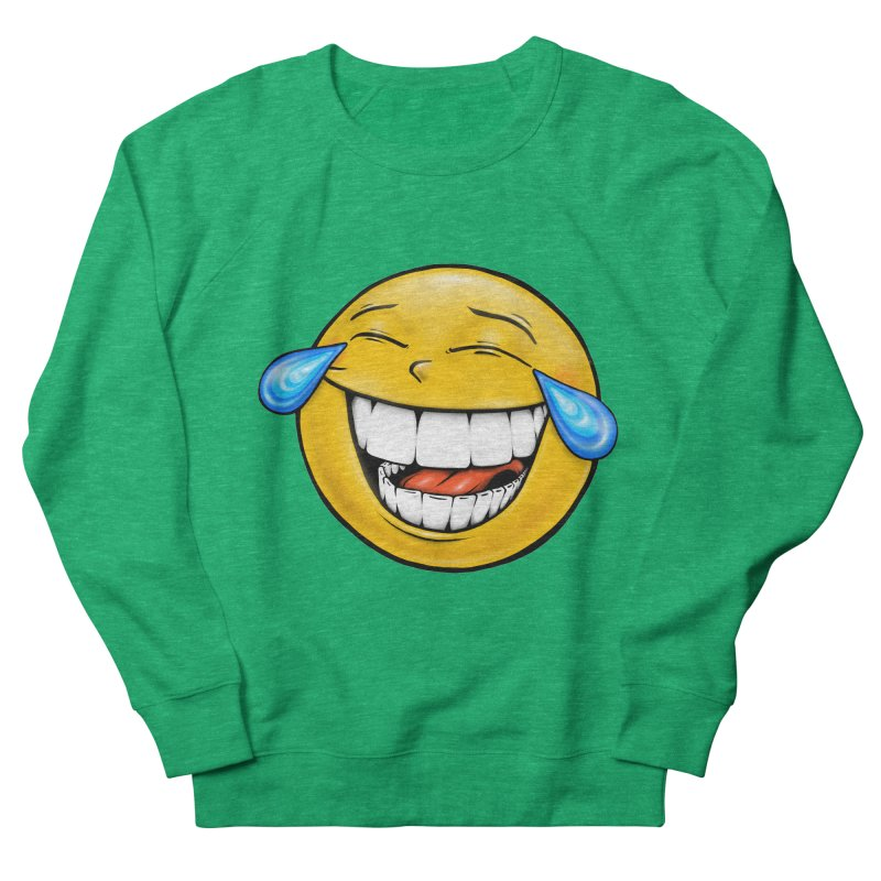 Crying Laughing Emoji Women's French Terry Sweatshirt by Stiky Shop
