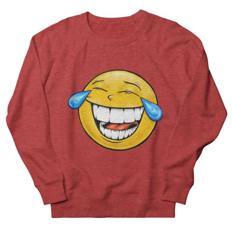 Crying Laughing Emoji Women's French Terry Sweatshirt by IDC Art House