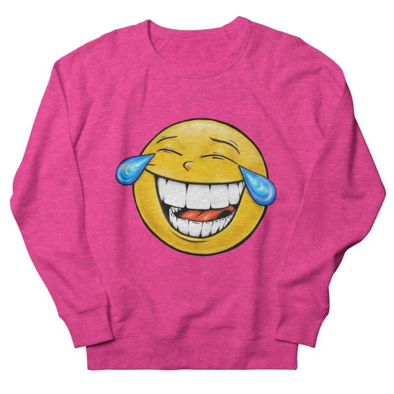 Crying Laughing Emoji Women's French Terry Sweatshirt by Stiky Shop