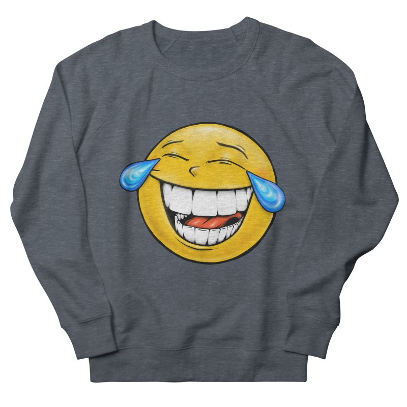 Crying Laughing Emoji Men's French Terry Sweatshirt by IDC Art House