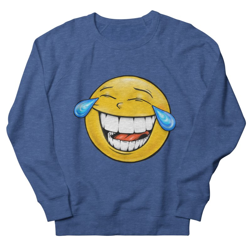 Crying Laughing Emoji Men's French Terry Sweatshirt by Stiky Shop