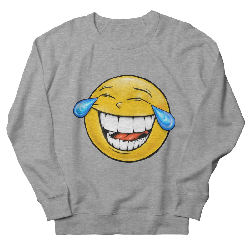 Crying Laughing Emoji Men's French Terry Sweatshirt by Stiky Shop