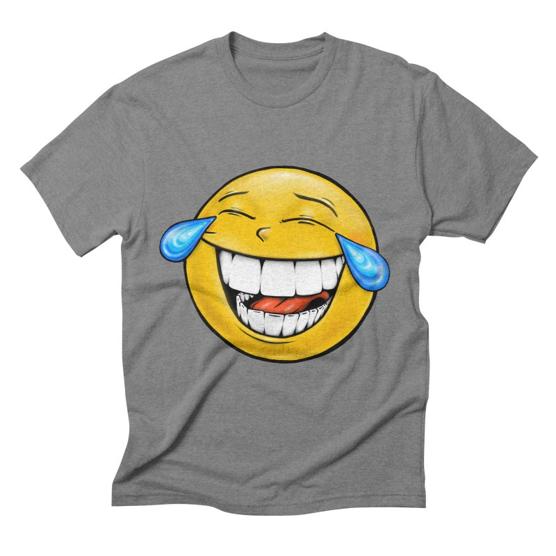 Crying Laughing Emoji Men's Triblend T-Shirt by Stiky Shop