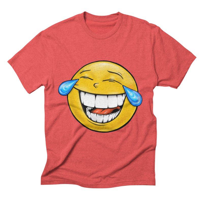 Crying Laughing Emoji Men's Triblend T-Shirt by IDC Art House