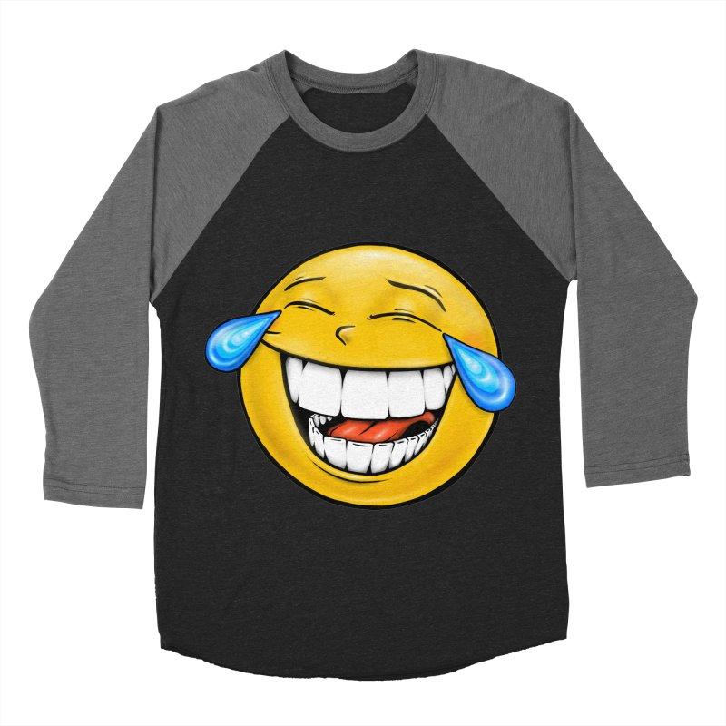 Crying Laughing Emoji Women's Baseball Triblend Longsleeve T-Shirt by Stiky Shop