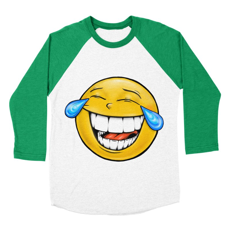 Crying Laughing Emoji Men's Baseball Triblend Longsleeve T-Shirt by Stiky Shop