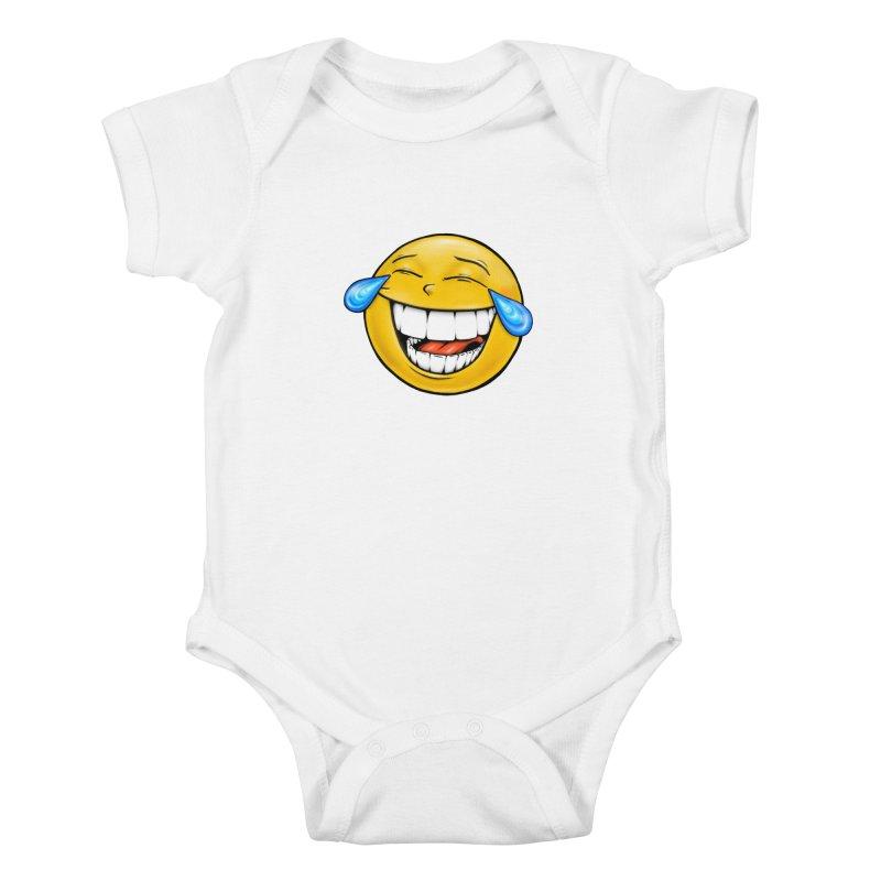 Crying Laughing Emoji Kids Baby Bodysuit by Stiky Shop