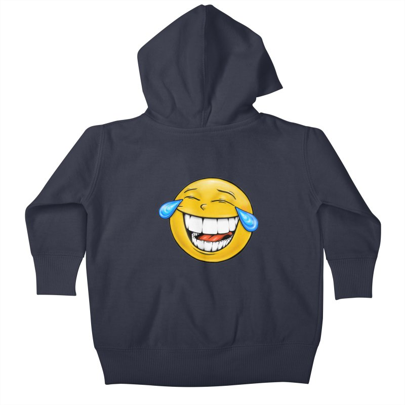 Crying Laughing Emoji Kids Baby Zip-Up Hoody by Stiky Shop