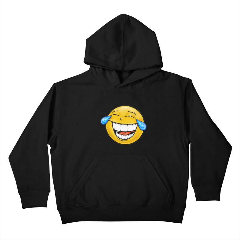 Crying Laughing Emoji Kids Pullover Hoody by Stiky Shop