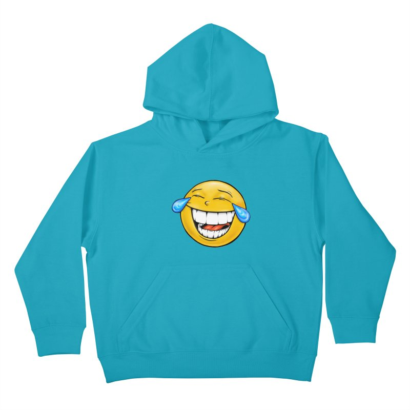 Crying Laughing Emoji Kids Pullover Hoody by IDC Art House