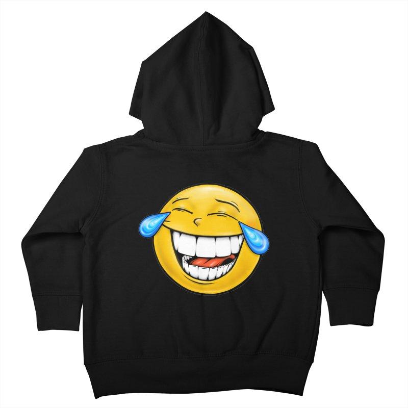 Crying Laughing Emoji Kids Toddler Zip-Up Hoody by Stiky Shop