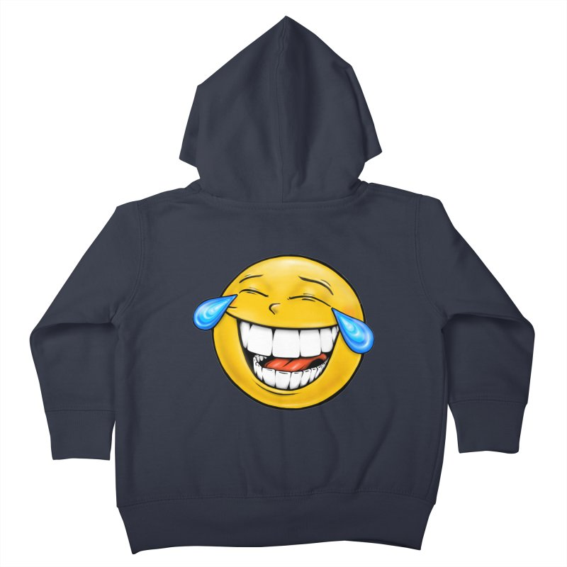 Crying Laughing Emoji Kids Toddler Zip-Up Hoody by IDC Art House