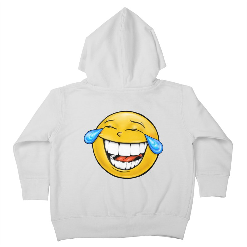 Crying Laughing Emoji Kids Toddler Zip-Up Hoody by Stiky Shop