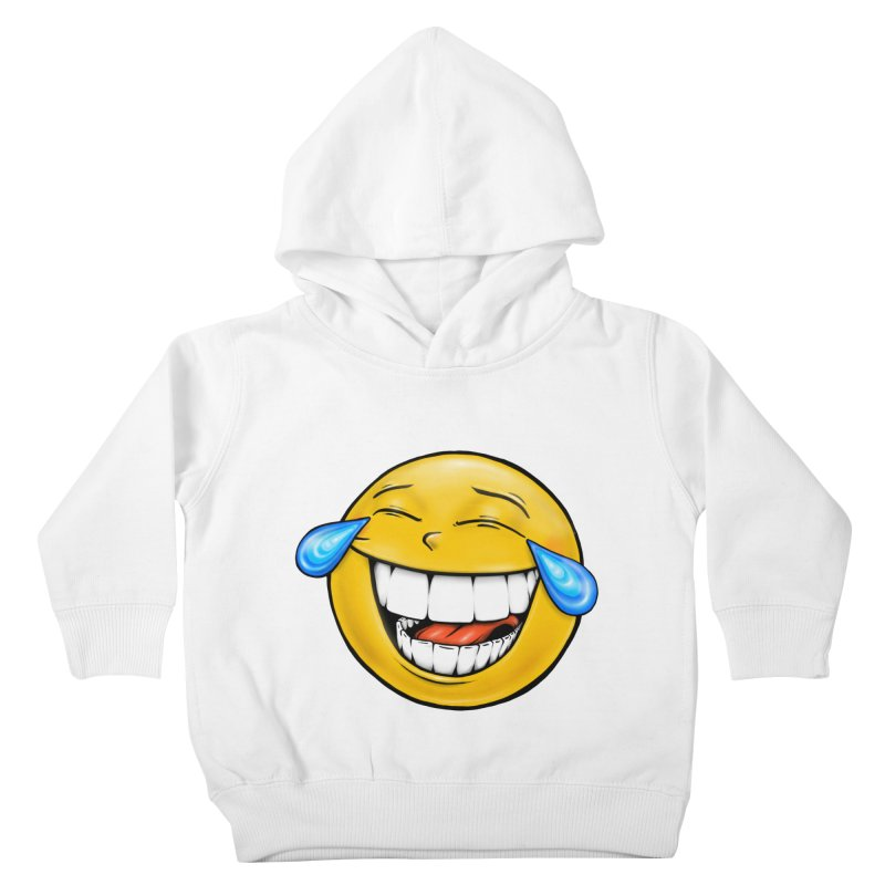 Crying Laughing Emoji Kids Toddler Pullover Hoody by Stiky Shop