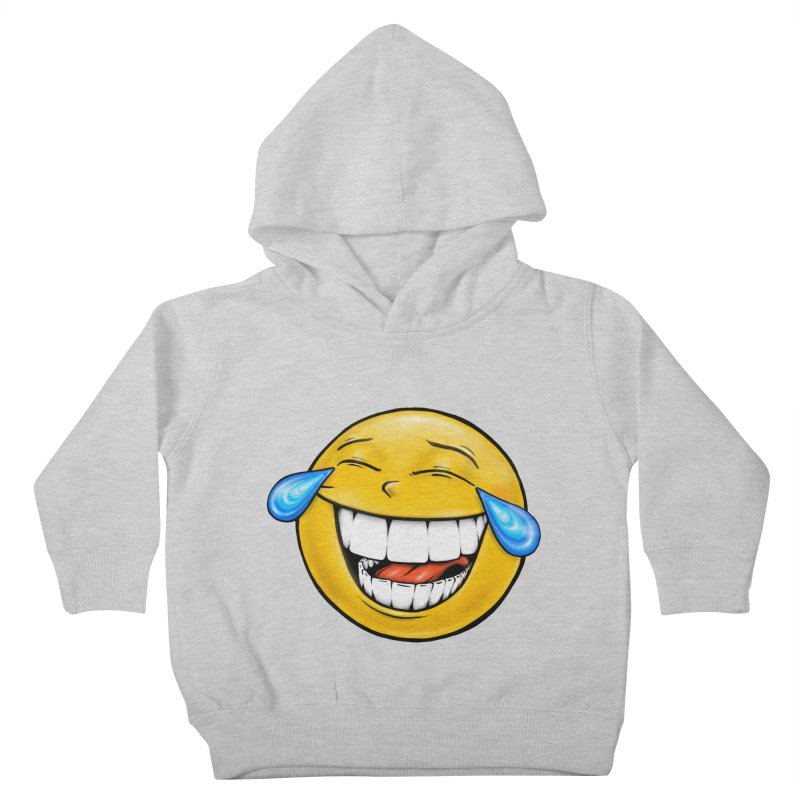 Crying Laughing Emoji Kids Toddler Pullover Hoody by IDC Art House