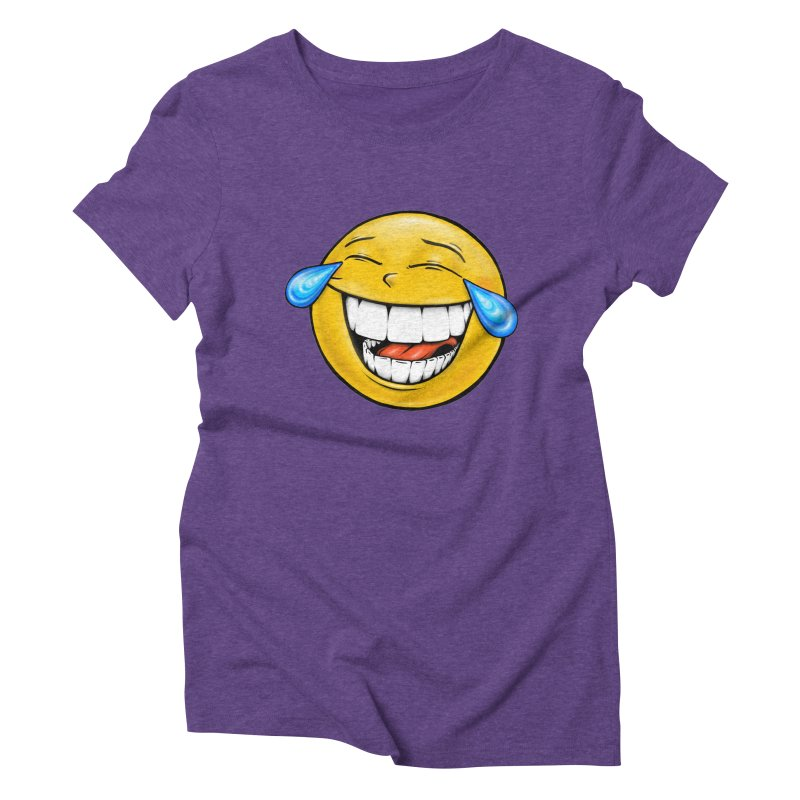Crying Laughing Emoji Women's Triblend T-Shirt by Stiky Shop