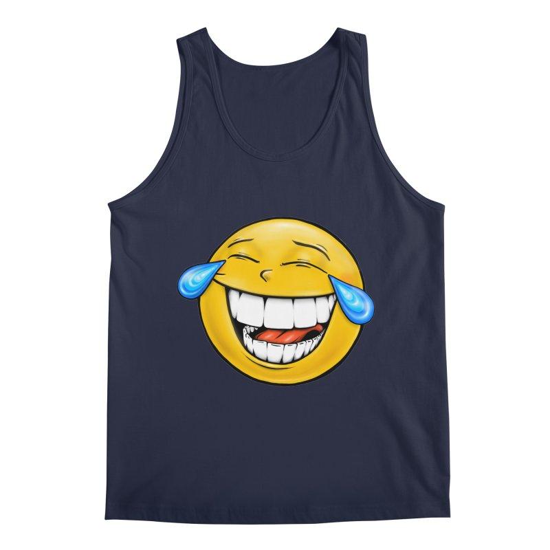 Crying Laughing Emoji Men's Regular Tank by Stiky Shop