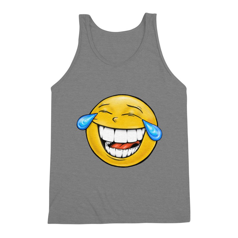 Crying Laughing Emoji Men's Triblend Tank by Stiky Shop