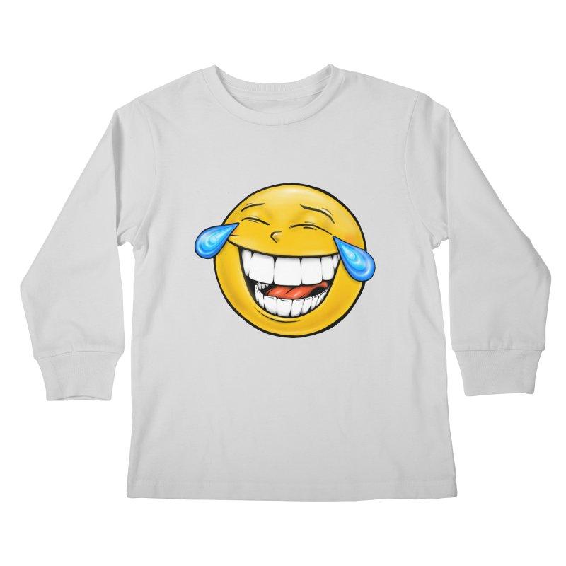 Crying Laughing Emoji Kids Longsleeve T-Shirt by Stiky Shop