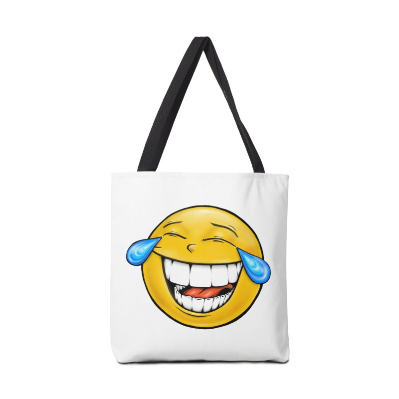 Crying Laughing Emoji Accessories Tote Bag Bag by Stiky Shop
