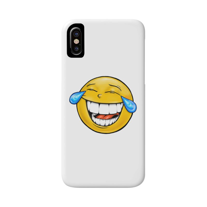 Crying Laughing Emoji Accessories Phone Case by Stiky Shop