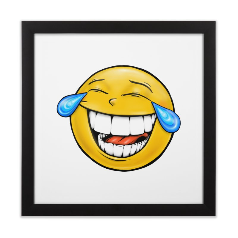 Crying Laughing Emoji Home Framed Fine Art Print by Stiky Shop