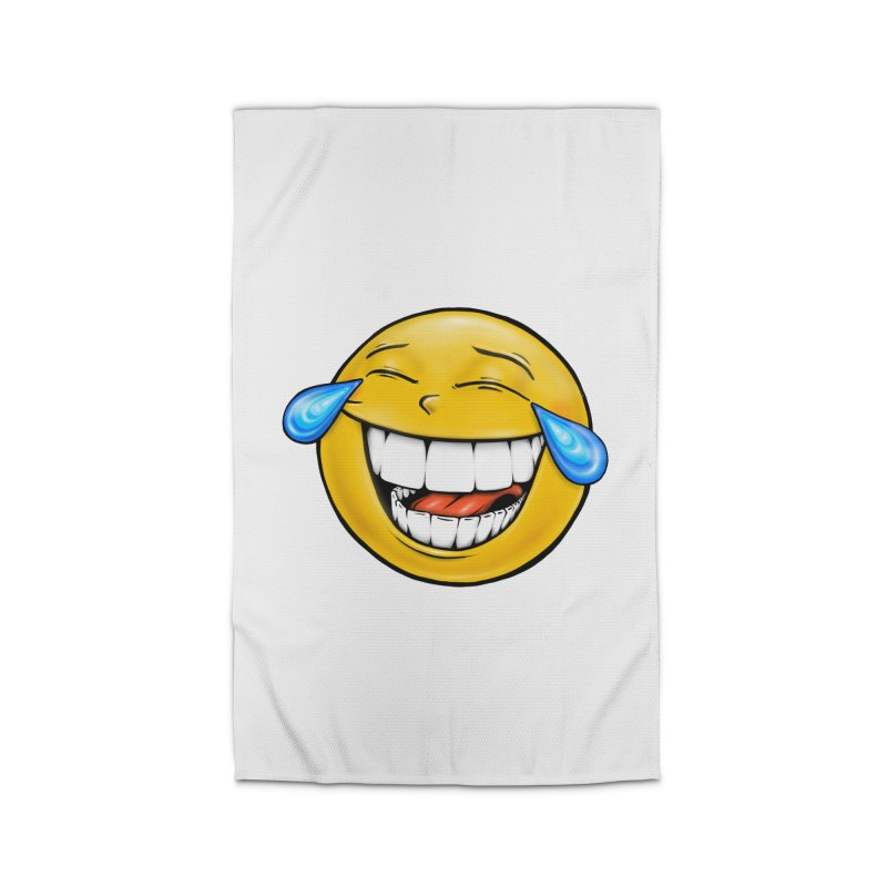 Crying Laughing Emoji Home Rug by IDC Art House