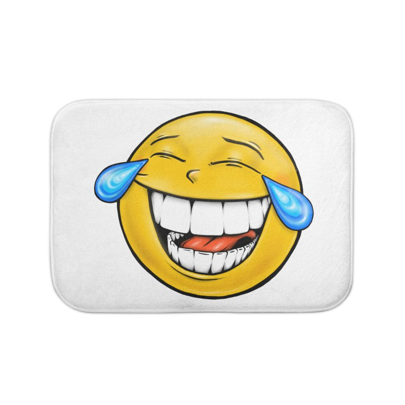 Crying Laughing Emoji Home Bath Mat by Stiky Shop