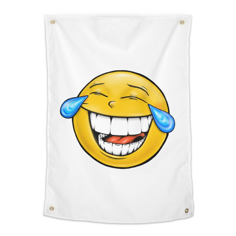 Crying Laughing Emoji Home Tapestry by Stiky Shop