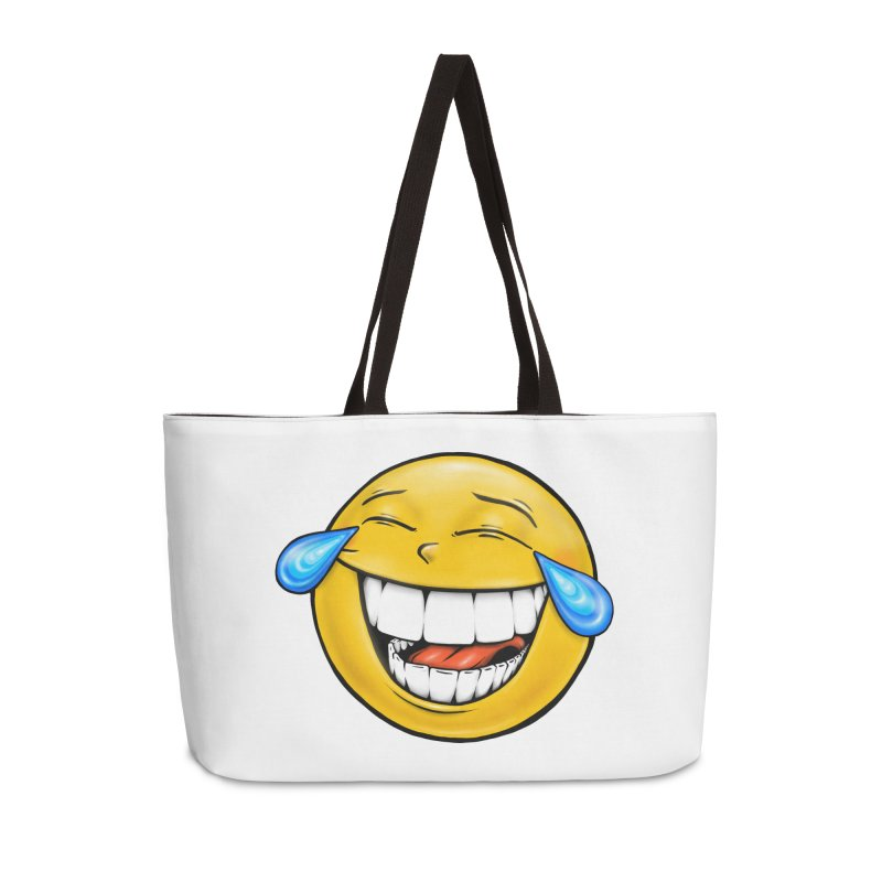 Crying Laughing Emoji Accessories Weekender Bag Bag by Stiky Shop
